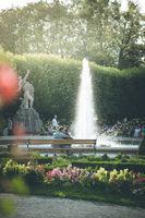 Fountain in the beautiful Mirabell garden, Salzburg, Austria
