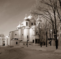 christian orthodox church, sepia
