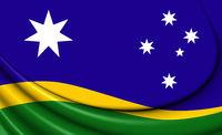 3D Proposal Australian Flag (Southern Horizon). 3D Illustration.