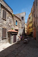 Alley in the old town of Castelsardo - Sardinia