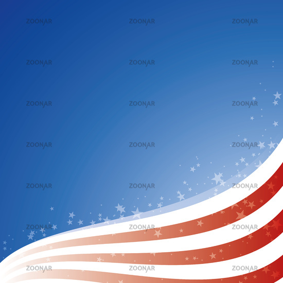 Vector background USA flag with light and stars