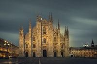 Milan Duomo at evening long exposure photo