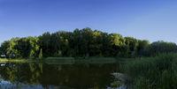Lake panoramic image