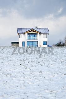 House in a Winter Meadow