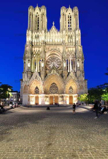 the Cathedral in Reims in the french Chamapgne