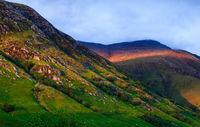 highlands of scotland evening light mountain