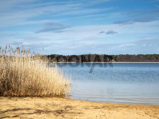 Lake Storkow in the spring