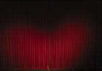 waved velvet theater curtain