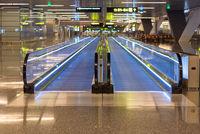 Moving walkway at Hamad International Airport in Doha