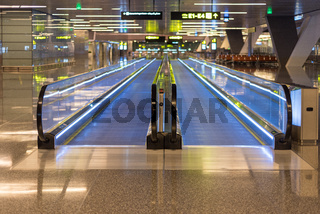 Fahrsteig im Hamad International Airport in Doha