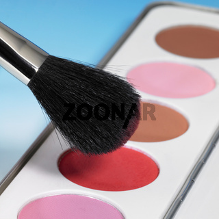 make-up colors and brush