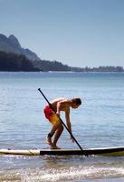 Paddle Surfing Kauai