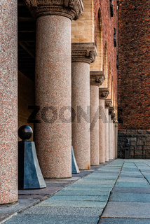 Colonnade in the Town Hall of Stockholm