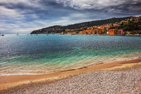 Beach and Sea in Villefranche Sur Mer on French Riviera