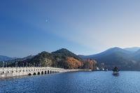 beautiful lulin lake in autumn