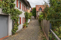 small street in the old town of Kronberg im Taunus, Hesse, Germany