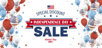 Independence Day Sale USA Balloons Stars Header