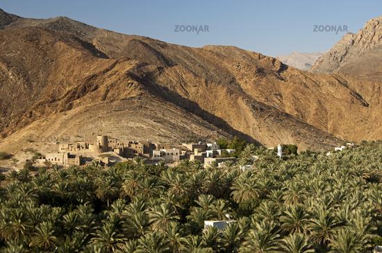 village Birkat al Mawz, Jebel Akhdar, Oman