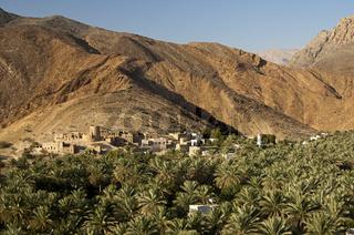 Oasenstadt Birkat al Mawz, Jebel Akhdar, Oman