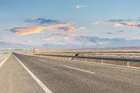 highway landscape at dusk