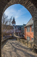 Historic old town of Idstein, Taunus, Hesse, Germany