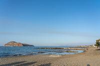 Troulakis Beach on Crete, Greece
