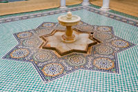 Fountain in the Tomb of Moulay Ismail in Meknes