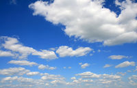 Deep blue sky big resolution panoramic photo