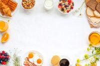 Healthy breakfast background
