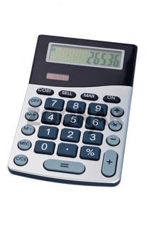 Taschenrechner auf weißem Hintergrund