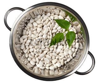 Beans in a colander