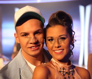 DSDS Gewinner 2011 Pietro Lombardi und Sarah Engels in der MDR-Show 'Inka Bause live' am 19.04.2013