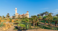 Montaza public park with Royal palace at far end, Alexandria, Egypt