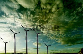 Wind mills landscape