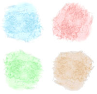 set of watercolor splashes isolated on white