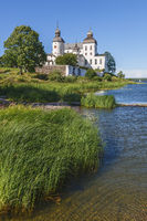 Lacko castle at lake Vanern in Sweden beautiful summer day