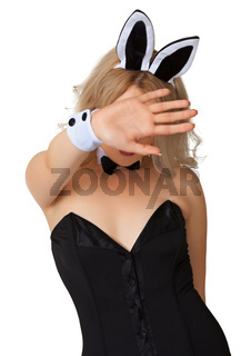 Girl in erotic costume wishes to remain incognito