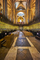 Barcelona. Catalonia. Spain. The Cathedral of the Holy Cross and Saint Eulalia