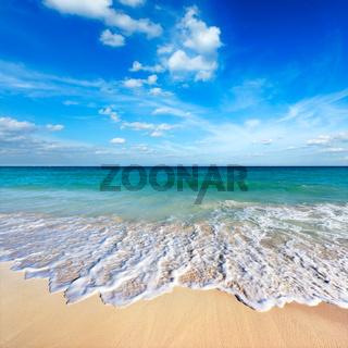 Beautiful beach and  wave