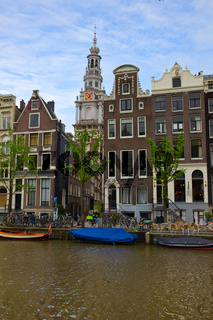 medieval houses of Amsterdam, Netherlands
