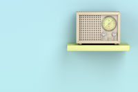 Wood radio in retro style
