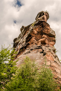 Felsformation an der Burg Trifels bei Annweiler, Rheinland-Pfalz, Deutschjland