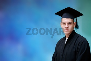 portrait of the student on graduation day