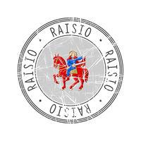 Raisio city postal rubber stamp