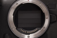 Mirrorless camera technology. Lens mount detail.