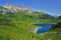 Formarinsee und Rote Wand im Lechquellengebirge, Vorarlberg, Österreich