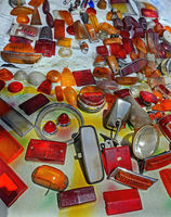 used orange and red covers  for car lights
