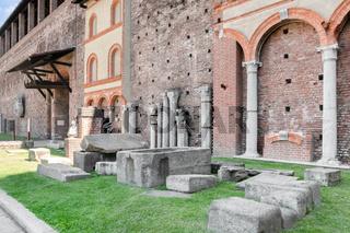 Inside the Sforza Castle