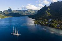 Bucht Baie de Cook, Franzoesisch Polynesien