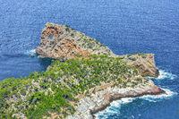 The Sa Foradada rockhole near Deia in the west of Mallorca